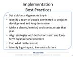 implementation best practices