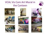 vcal vis com art mural in the canteen