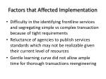 factors that affected implementation