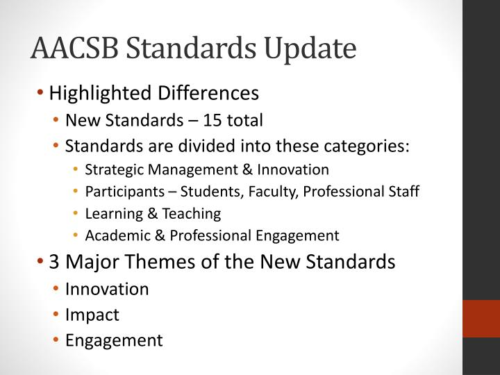 Aacsb standards update1