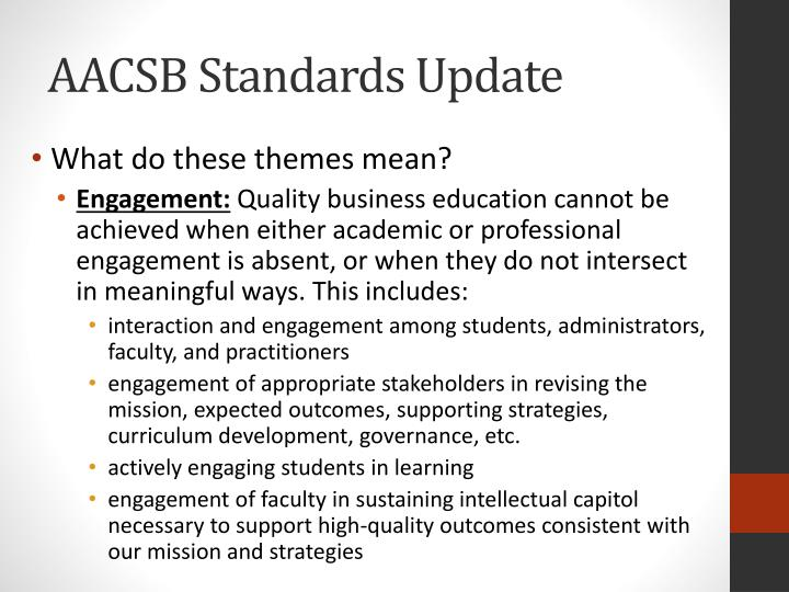 AACSB Standards Update