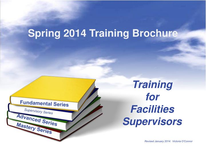 training for facilities supervisors n.