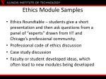 ethics module samples