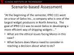 scenario based assessment