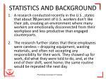 statistics and background