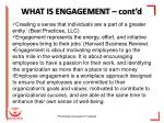 what is engagement cont d
