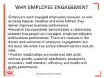 why employee engagement