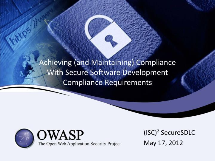 achieving and maintaining compliance with secure software development compliance requirements n.