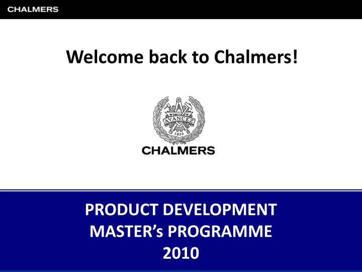 product development master s programme 2010 n.