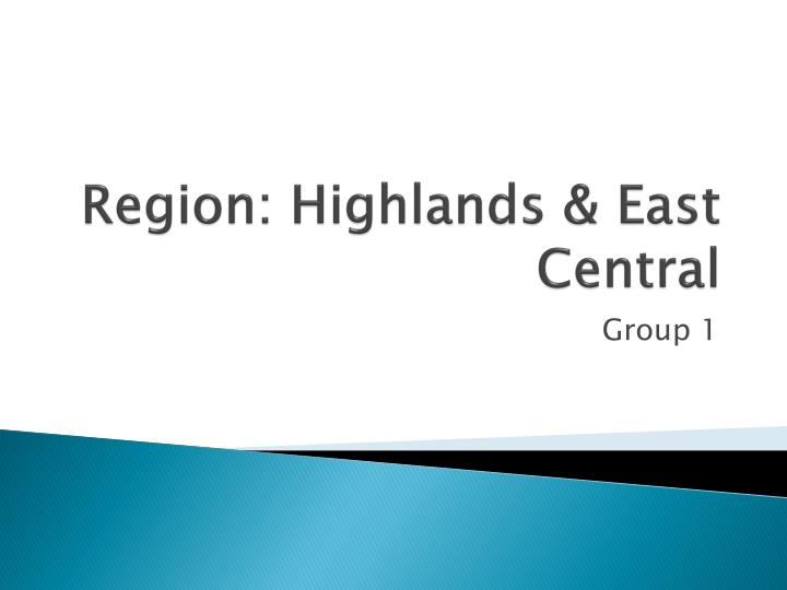 region highlands east central n.