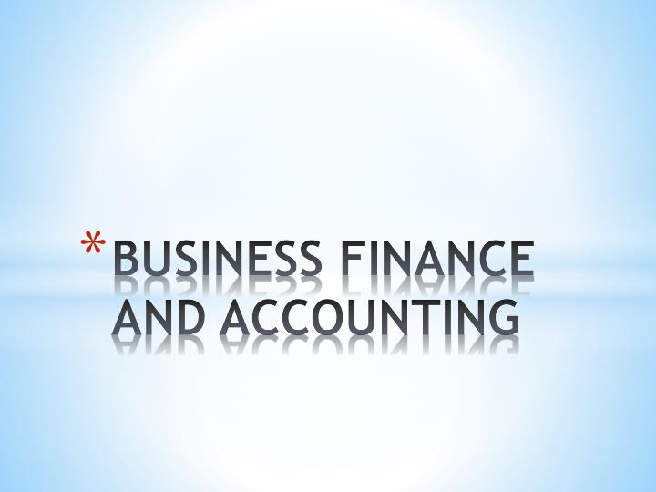 business finance and accounting n.
