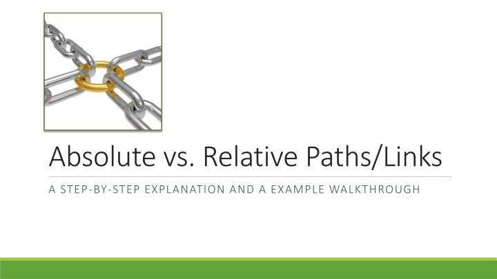 absolute vs relative paths links n.