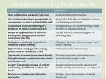 workplace learning environments