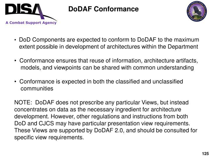 DoDAF Conformance
