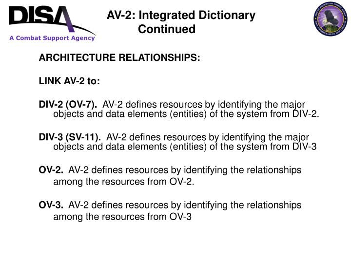 ARCHITECTURE RELATIONSHIPS: