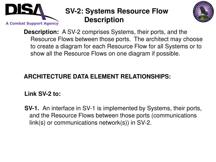 SV-2: Systems Resource Flow