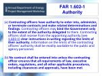 far 1 602 1 authority