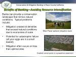 benefits of banking avoiding resource intensification
