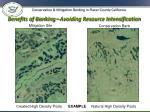 benefits of banking avoiding resource intensification1