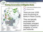 existing conservation mitigation banks
