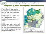 integration of banks into regional conservation plans