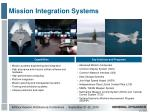 mission integration systems