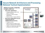 secure network architecture and processing notional tactical implementation