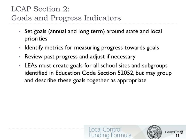 LCAP Section