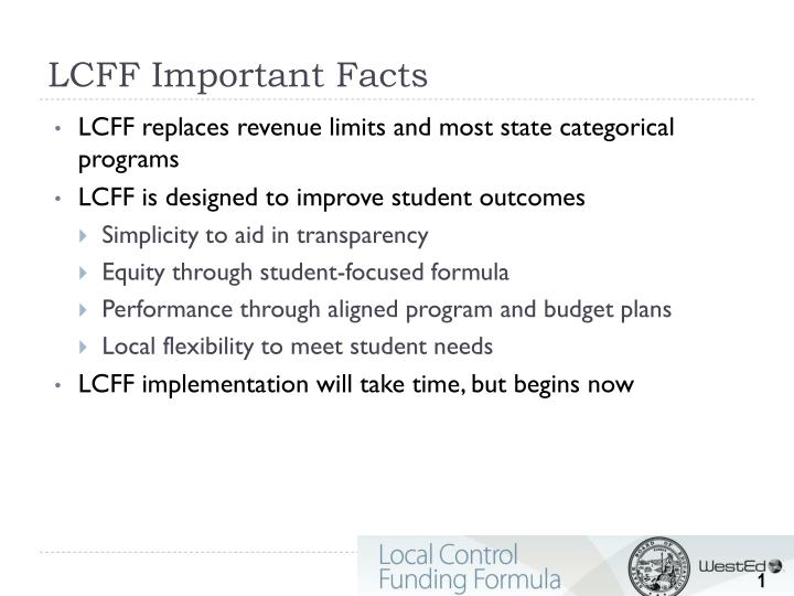 Lcff important facts