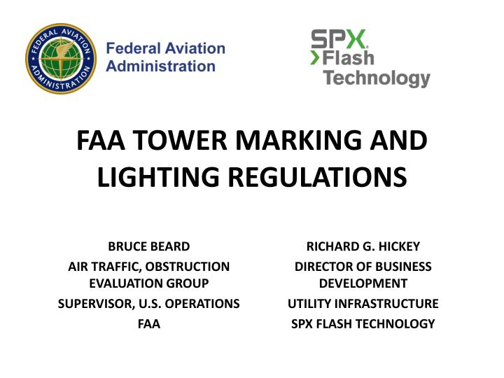 faa tower marking and lighting regulations n.