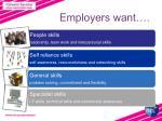 e mployers want
