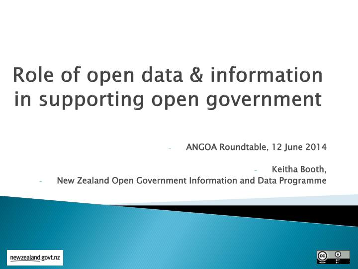 role of open data information in supporting open government n.