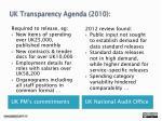 uk transparency agenda 2010