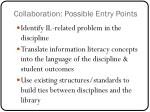 collaboration possible entry points