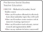 pre service social studies teacher education