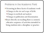 problems in the academic field