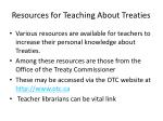 resources for teaching about treaties