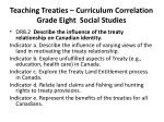 teaching treaties curriculum correlation grade eight social studies