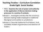 teaching treaties curriculum correlation grade eight social studies2