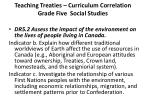teaching treaties curriculum correlation grade five social studies1