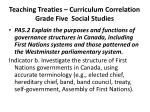 teaching treaties curriculum correlation grade five social studies2