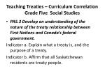 teaching treaties curriculum correlation grade five social studies3