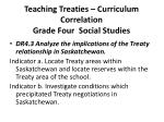teaching treaties curriculum correlation grade four social studies3
