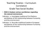teaching treaties curriculum correlation grade two social studies3