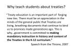 why teach students about treaties