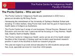 the poche centre for indigenous health faculty of dentistry
