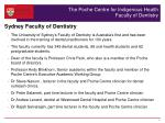 the poche centre for indigenous health faculty of dentistry1