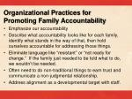 organizational practices for promoting family accountability