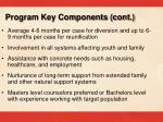 program key components cont