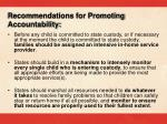 recommendations for promoting accountability